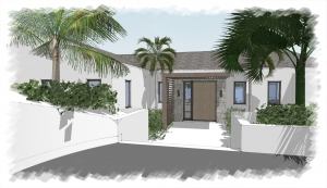 alina-villa-front-door-turks-and-caicos-rental